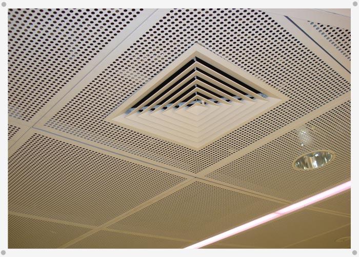 Alttra metal desplegado for Plafones de pared para escaleras